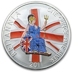 2011 1 oz Silver Britannia - Colorized