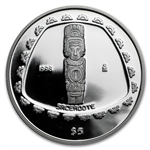 1998 1 oz Mexican Proof Silver 5 Pesos Sacerdote