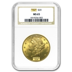 $20 Gold Liberty Double Eagle - MS-65 NGC