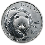 2003 Silver Chinese Panda 1 oz - Light Abrasions