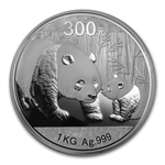 2011 (Kilo Proof) Silver Chinese Panda (W/Box & Coa)