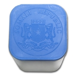 Official Mint 20 Coin 1 oz Silver Somalia Elephant Square Tube