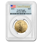 2011 1/2 oz Gold American Eagle MS-70 PCGS (First Strike)