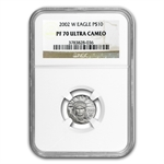 2002-W 1/10 oz Proof Platinum American Eagle PF-70 NGC UCAM