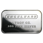 1 oz Engelhard Silver Bar (Wide, No Serial No. / Frosted, 1980)