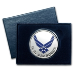 1 oz U.S. Air Force Enameled Silver Round (w/Gift Box & Capsule)