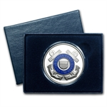 1 oz U.S. Coast Guard Enameled Silver Round(w/Gift Box & Capsule)