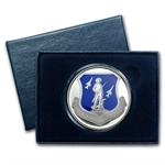 1 oz U.S. Air National Guard Enameled Silver Round (w/Box & Cap)