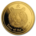 2010 1 oz Proof Gold Lunar Year of the Tiger (Series II)