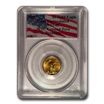 2001 1/10 oz Gold Eagle Gem Unc PCGS World Trade Center