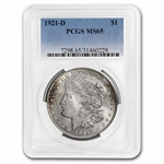 1921-D Morgan Dollar - MS-65 PCGS