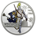 2010 1 oz Proof Silver Knight - Great Warriors Series