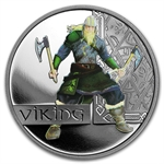 2010 1 oz Proof Silver Viking - Great Warriors Series
