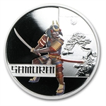 2010 1 oz Proof Silver Samurai - Great Warriors Series