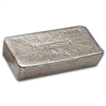 50 oz Engelhard Silver Bar (Poured, Bull Logo) .999 Fine