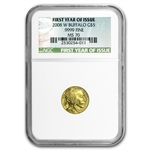 2008-W 1/10 oz Gold Buffalo MS-70 NGC First Year of Issue
