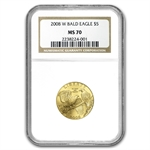 2008-W Bald Eagle - $5 Gold Commemorative - NGC MS-70