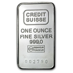 1 oz Credit Suisse Silver Bar .999 Fine