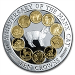 Isle of Man 1997 10 Crowns 10th Anniversary of the Manx Cat Proof