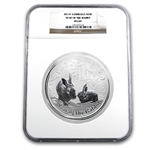 2011 1 Kilo Silver Australian Year of the Rabbit NGC MS-69