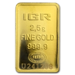 2.5 gram Istanbul Gold Refinery Bar (In Assay) .9999 Fine