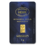 1 gram Istanbul Gold Refinery Bar (In Assay) .9999 Fine