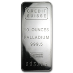 10 oz Palladium Bar - Mint Varies - .999+ Fine