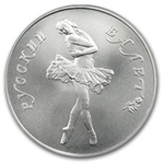 1990 1/2 oz Russian Palladium Ballerina
