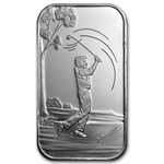1 oz Male Golfer Silver Bar (w/Gift Box & Capsule)