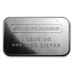 1 oz Engelhard Silver Bar (Wide, No Serial No. / Smooth, 1980)