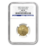2009 1/4 oz Gold American Eagle MS-70 NGC (Early Releases)