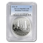 2010-W Disabled American Vets $1 Silver Commem PR-69 DCAM PCGS