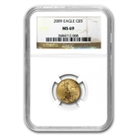 2009 1/10 oz Gold American Eagle MS-69 NGC