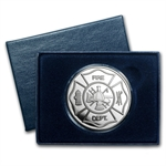 1 oz Fire Department Silver Round (w/Box & Capsule)