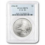 1994-W Prisoner of War $1 Silver Commemorative - MS-70 PCGS