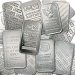 1 oz Platinum Bar (Secondary Market) .999+ Fine