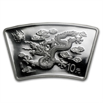 2000 Dragon Fan Shaped 1 oz Silver NGC MS-69