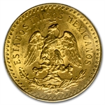 Mexico 1925 50 Pesos Gold Coin - MS-64 PCGS