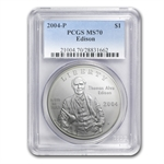 2004-P Thomas Edison $1 Silver Commemorative - MS-70 PCGS