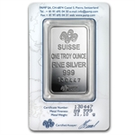 1 oz Pamp Suisse Silver Bar - Fortuna (In Assay)