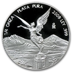 2009 1/4 oz Silver Mexican Libertad - Proof (In Capsule)