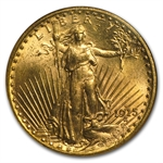 1915-S $20 St. Gaudens Gold Double Eagle - MS-64 NGC