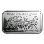 1 oz Stagecoach (Fractional) Silver Bar .999 Fine