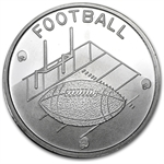 1 oz Football Silver Round (w/Gift Box & Capsule)