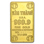 37.50 (1.2057 oz) Vietnam Gold Bar .9999 Fine (Kim - Thanh)