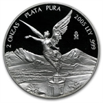 2005 2 oz Silver Mexican Libertad - Proof (In Capsule)