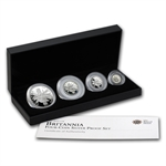 2011 4-coin Silver Britannia Set - Proof (w/Box & CoA)