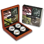 Cook Islands 4 x 1 oz Silver Coin Set - 1930's Classic Speedsters