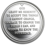 1 oz Serenity Prayer Silver Round (w/Box & Capsule)