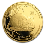 2008 1 oz Proof Gold Lunar Year of the Mouse (Series II)